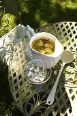 Cucumber and apple punch with cider