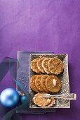 Brune Kager (almond biscuits, Scandinavia)