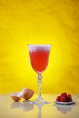 Clover Club: a cocktail made with gin, raspberry juice and egg white