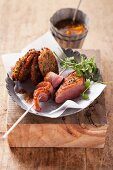 Roast duck breast with lentil cakes