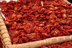 A basket of dried tomatoes
