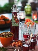 Swedish Christmas red wine punch
