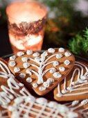Iced gingerbread (close-up)