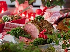 Grilled Christmas ham (Sweden)