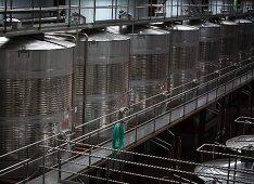 Steel tanks for wine storage