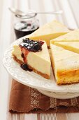 Ricotta cheese cake with mulberry jam