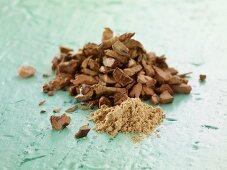 Galgant: dried and powdered