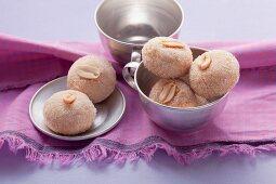 Peanut cookies with vanilla sugar
