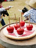 Dipped apples at a Cowboy and Indian children's party