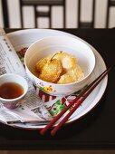 Apple dumplings with sesame (Asia)