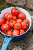 Ripe tomatoes in a pan
