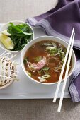 Beef rice noodle soup (China)