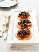 Tomato and olive tartlets