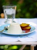 Panna cotta with fried pear