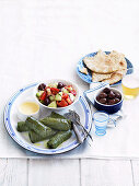 Various appetizers from Greece