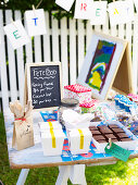 A sweet stall at a school fete