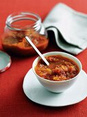 Tomato chutney with ginger and chilli