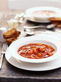 Haricot bean soup with chorizo