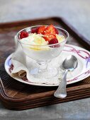 Yoghurt dessert with fresh berries