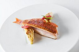 Grilled red mullet with fennel and tomato confit