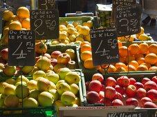 Fruit Display at a Saturday Morning Market, Geneva, Switzerland