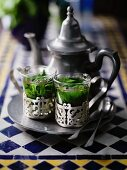 Arab peppermint tea