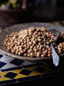 Chickpeas in a ceramic bowl