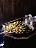 Chickpeas with fennel