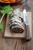 Carrot bread with raisins
