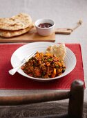 Minced lamb with curry