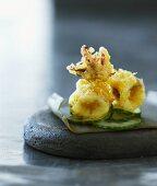 Squid in tempura batter