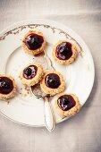 Macadamia nut biscuits with amarena cherries