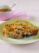 Banana and honey cake with seeds