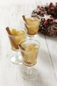 Apple compote with raisins and cinnamon for Christmas