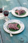 Veal heart with herb sauce