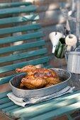 Roast chicken in pinot grigio