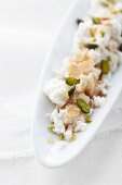 Brocciu with honey, pistachio and almonds