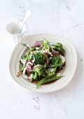 Broccoli and bean salad with a tofu dressing