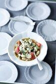 Basil gnocchi with tomato
