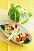 Cauliflower salad with capers and tomatoes