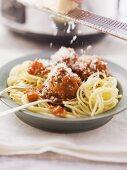 Spaghetti with meatballs and Marinara sauce