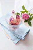 Rose ice cream