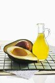 Avocado oil and an avocado