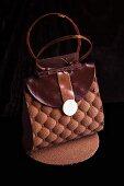 A chocolate handbag