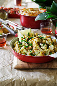 Cavolfiore alla calabrese (cauliflower with anchovies and chillis)