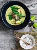 Lobster curry with lime and coriander