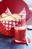 Tomato soup with corn bread