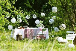 Table set for garden party