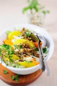 Vegetable gratin with herbs
