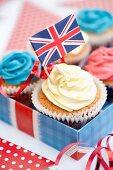 Mini cupcakes and a Union Jack